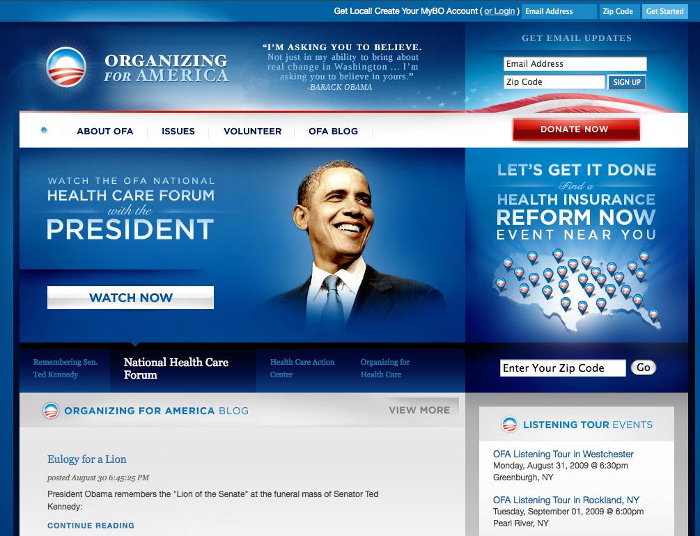 Obama's Website