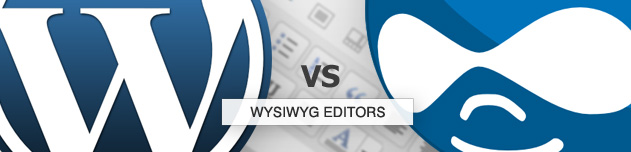 Wordpress vs Drupal: WYSIWYG Editors