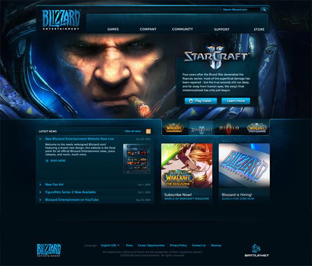 Blizzard.com Redesign